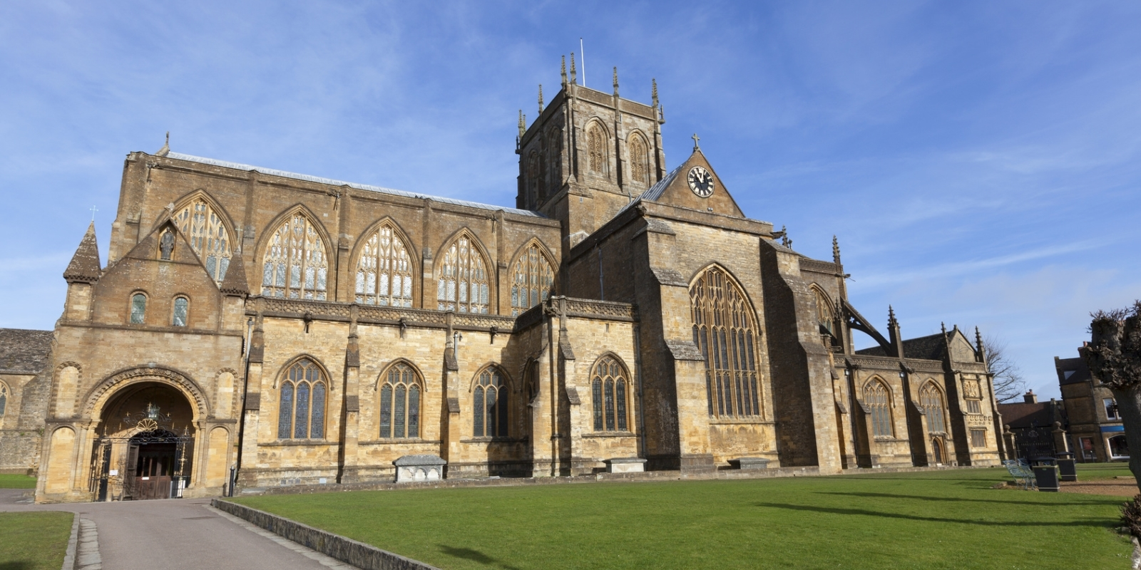 Sherborne with its Abbey and two castles is only half an hour away